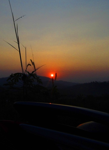 sunset over sentul