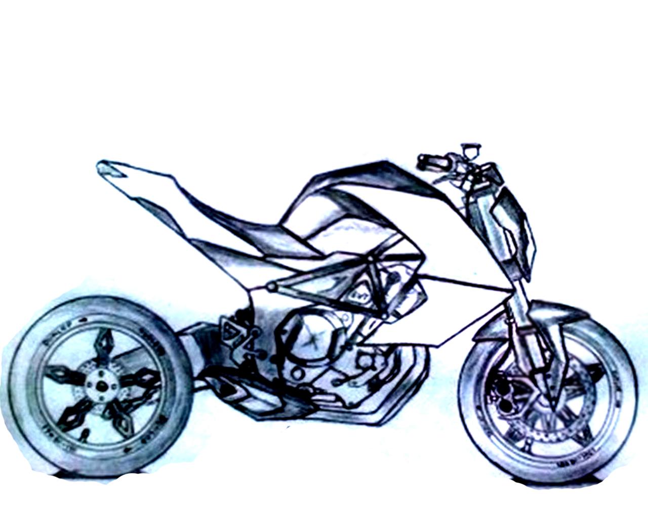 Gambar Drak Motor Ninja R 150 Sepeda Motor Jalanan Gambar