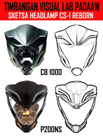 TIMBANGAN VISUAL SKETSA HEADLAMP CS 1
