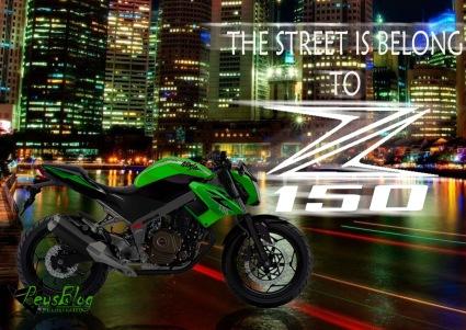 Ilustrasi Ninja Naked Z 150