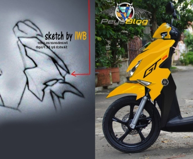 My another Sketchwork on Soul GT 125 Bluecore