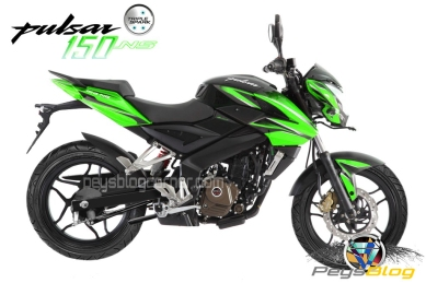 Bajaj pulsar 150 NS green