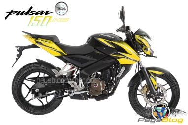 Bajaj pulsar 150 NS yellow