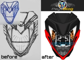 sketch generating before and after
