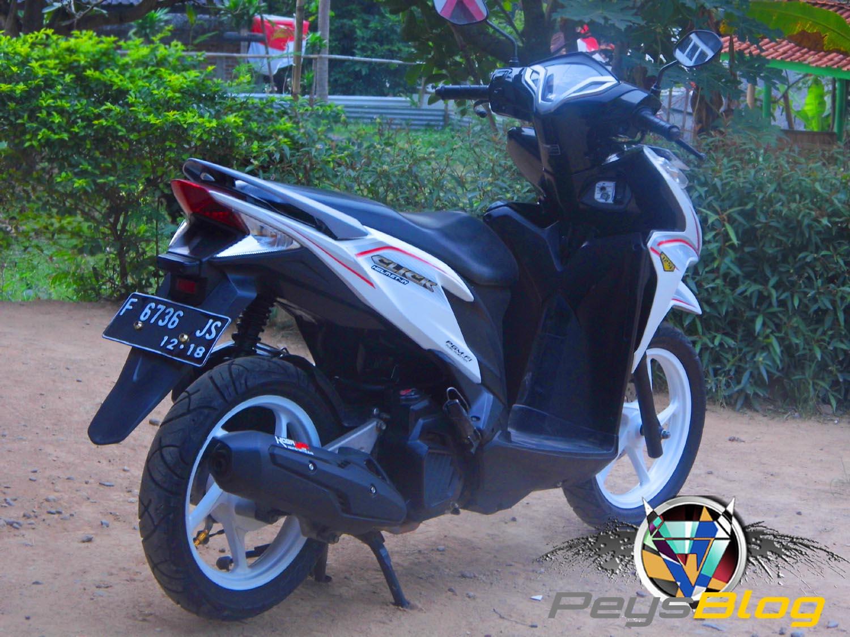 Modifikasi Vario Putih Biru Kumpulan Modifikasi Motor Vario