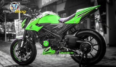 new cb150r modif hijau