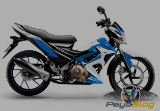 satria modif custom blue