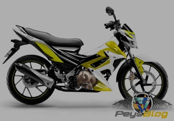 satria modif custom yellow