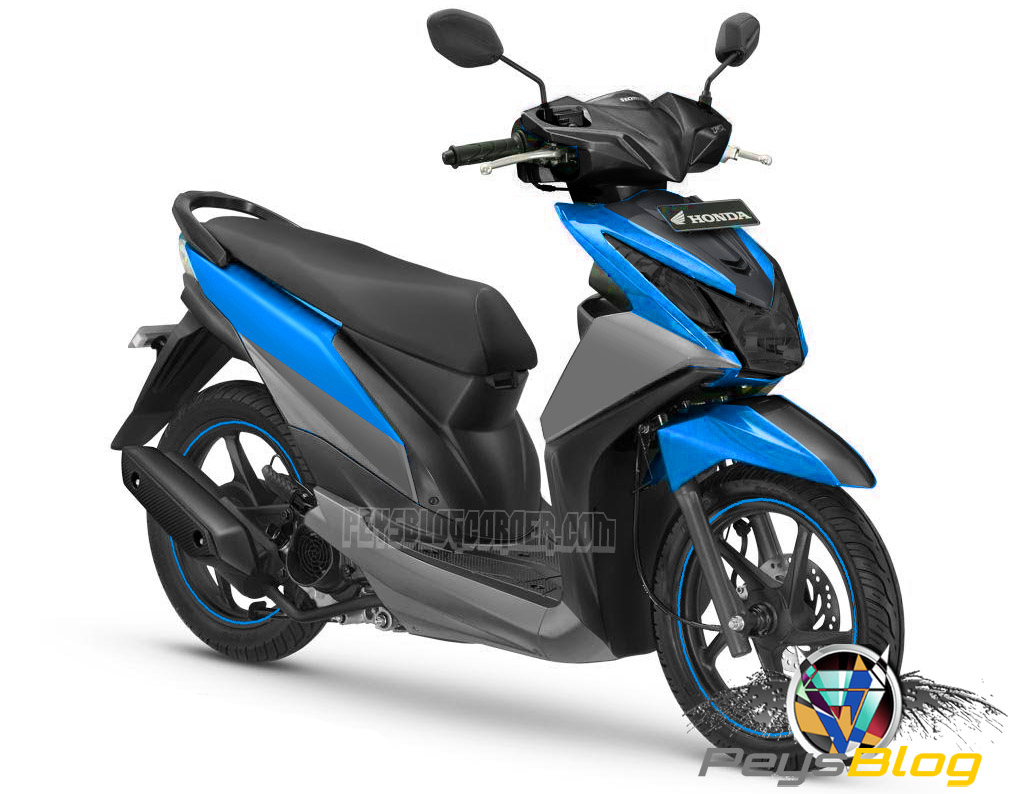 Download 60 Modifikasi Motor Honda Beat Warna Biru Terbaik