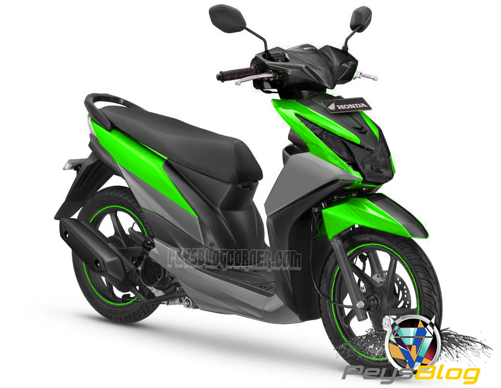 Download Koleksi 69 Modifikasi Motor Honda Beat Warna Hijau Putih