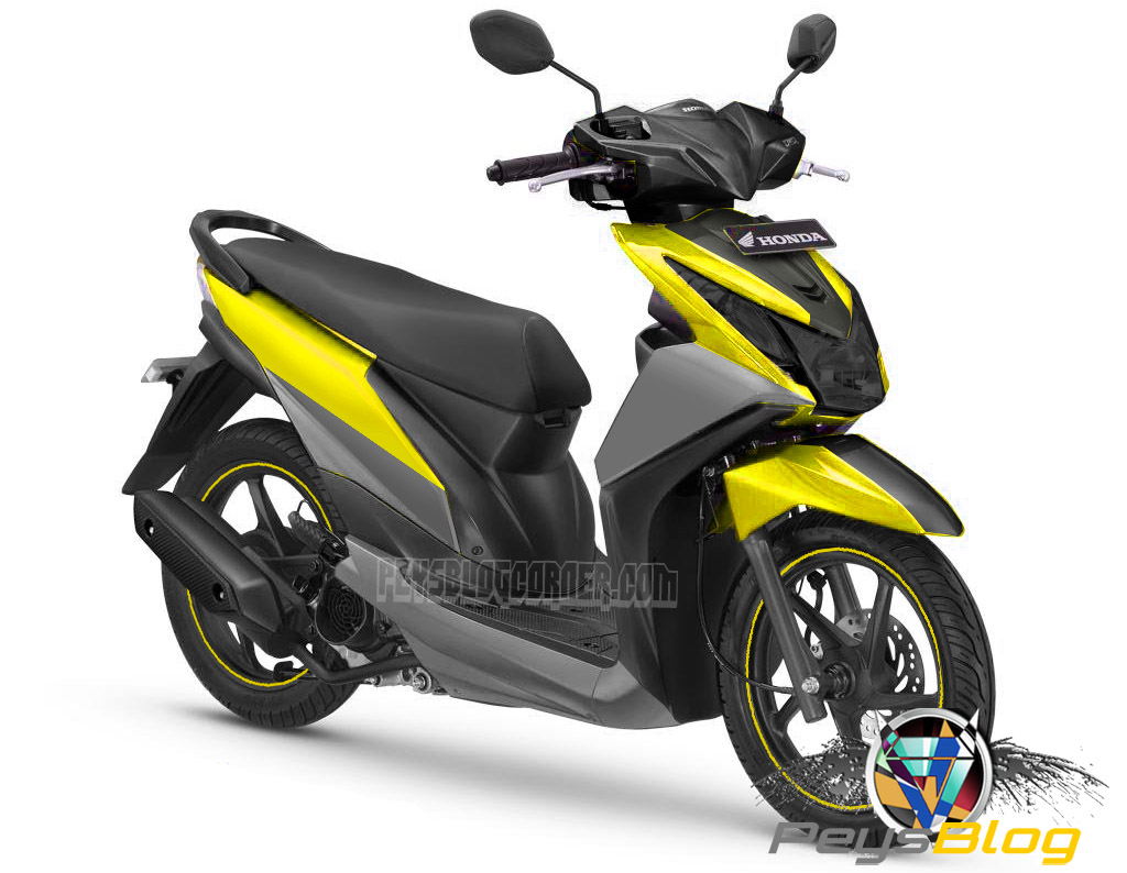 Download Koleksi 46 Modifikasi Motor Honda Beat Warna Kuning