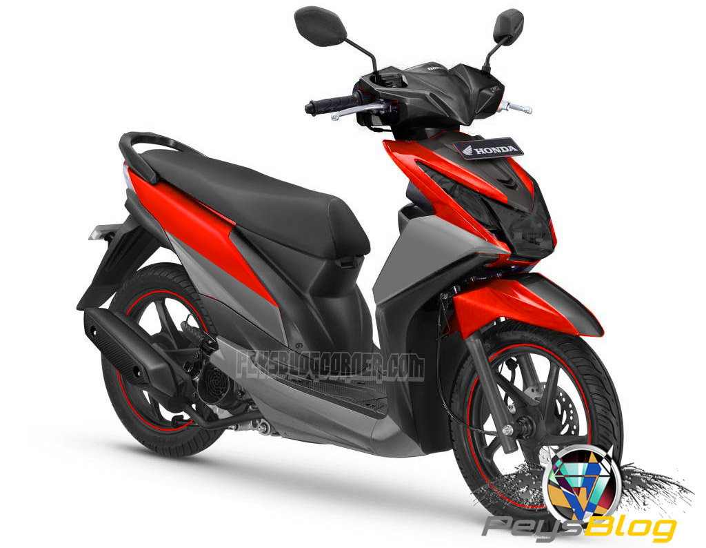 Kumpulan 68 Modifikasi Motor Honda Beat Warna Merah Terbaru Pojok