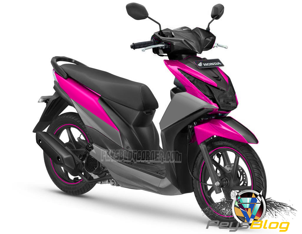 101 Modifikasi Honda Beat Fi Pink Modifikasi Motor Beat Terbaru