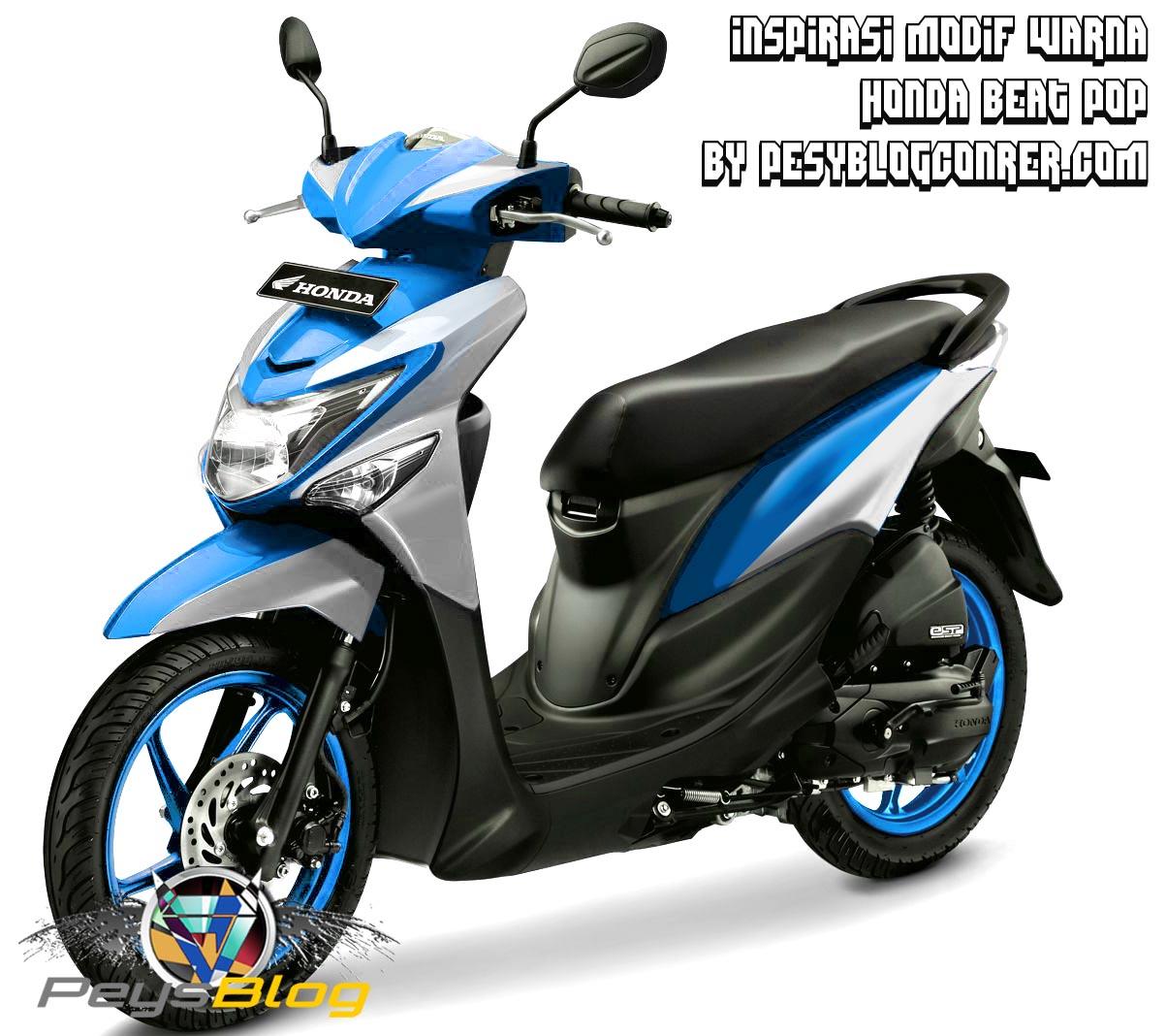 56 Modifikasi Beat Biru Terkeren Tang Motor