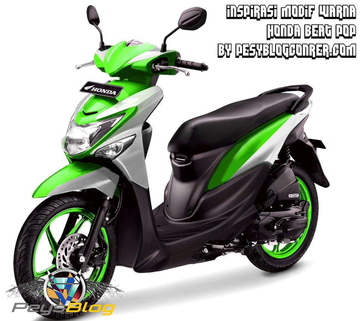 Koleksi Modifikasi Motor Vario Hijau Putih Terlengkap Velgy Motor