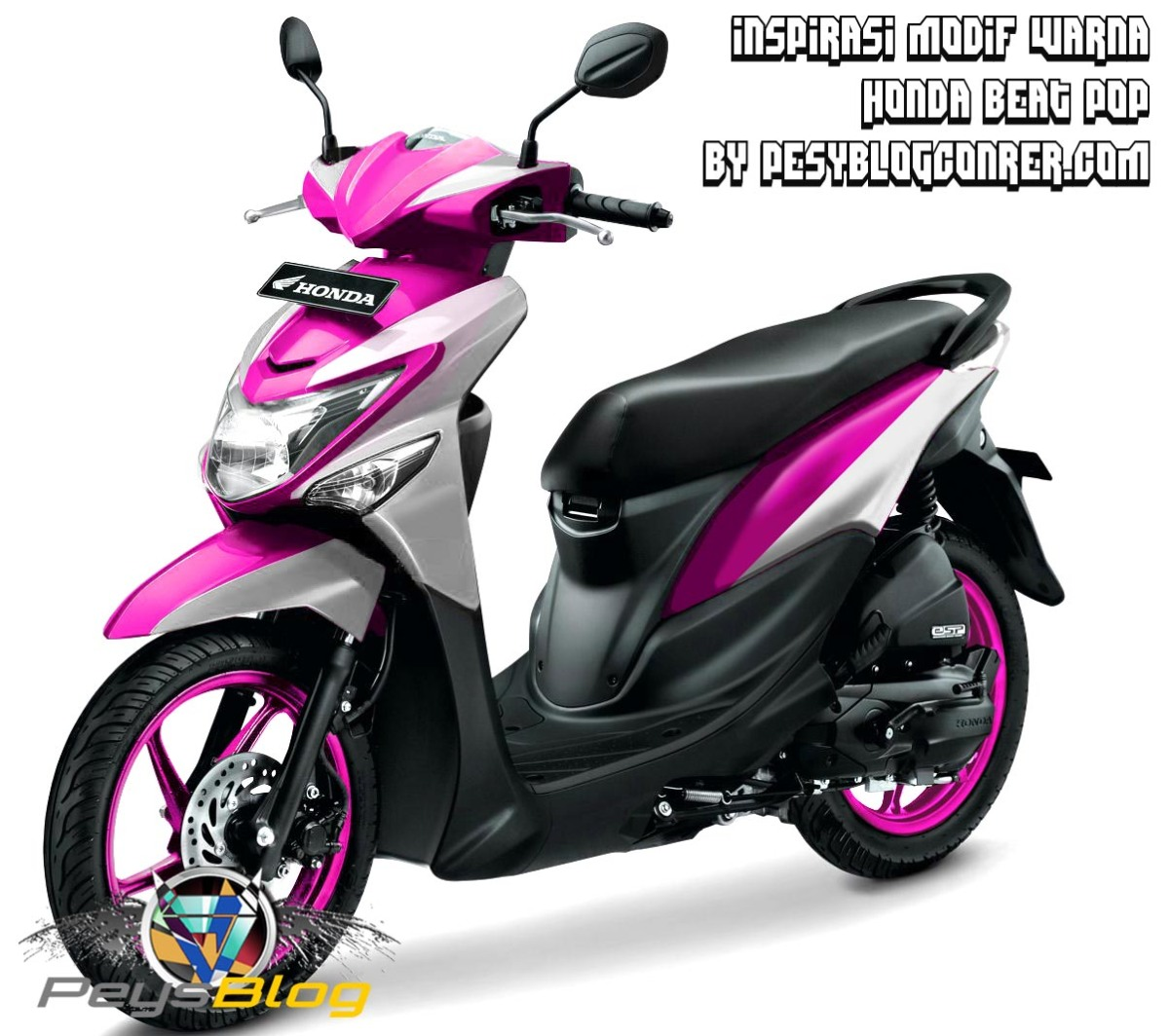 107 Modifikasi Motor Beat Pop Putih Modifikasi Motor Beat Terbaru