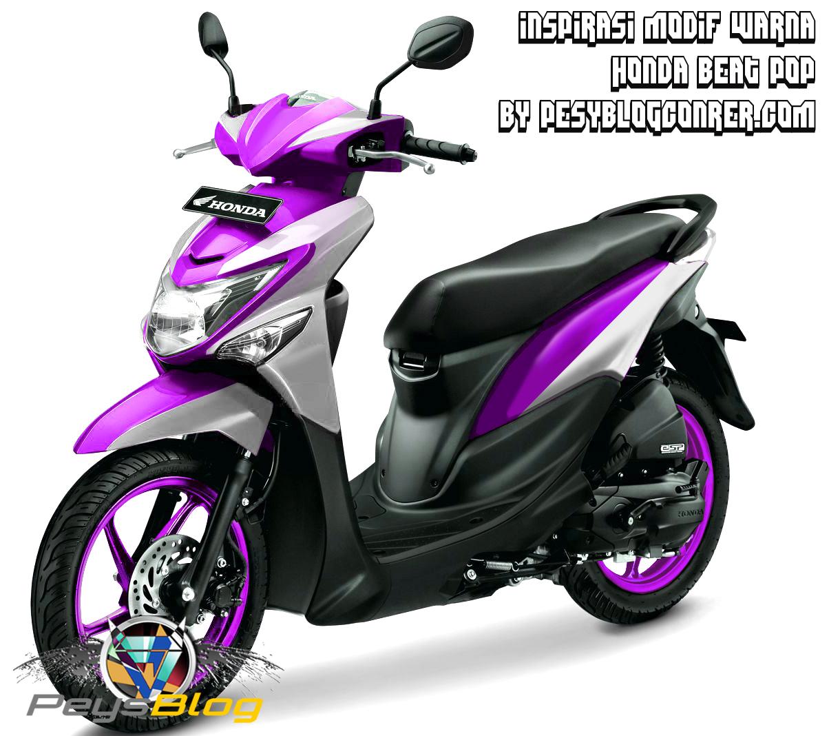 Modifikasi Motor Beat Karbu Warna Ungu Mobiliobaru
