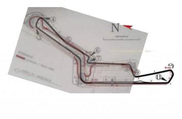 Desain Track Sirkuit Sentul