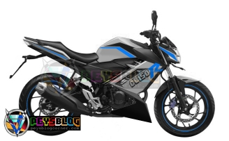 modifikasi all new CB150r 2015 putih biru