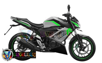 modifikasi all new CB150r 2015 putih hijau