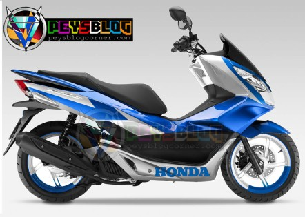 Modifikasi PCX Putih Biru
