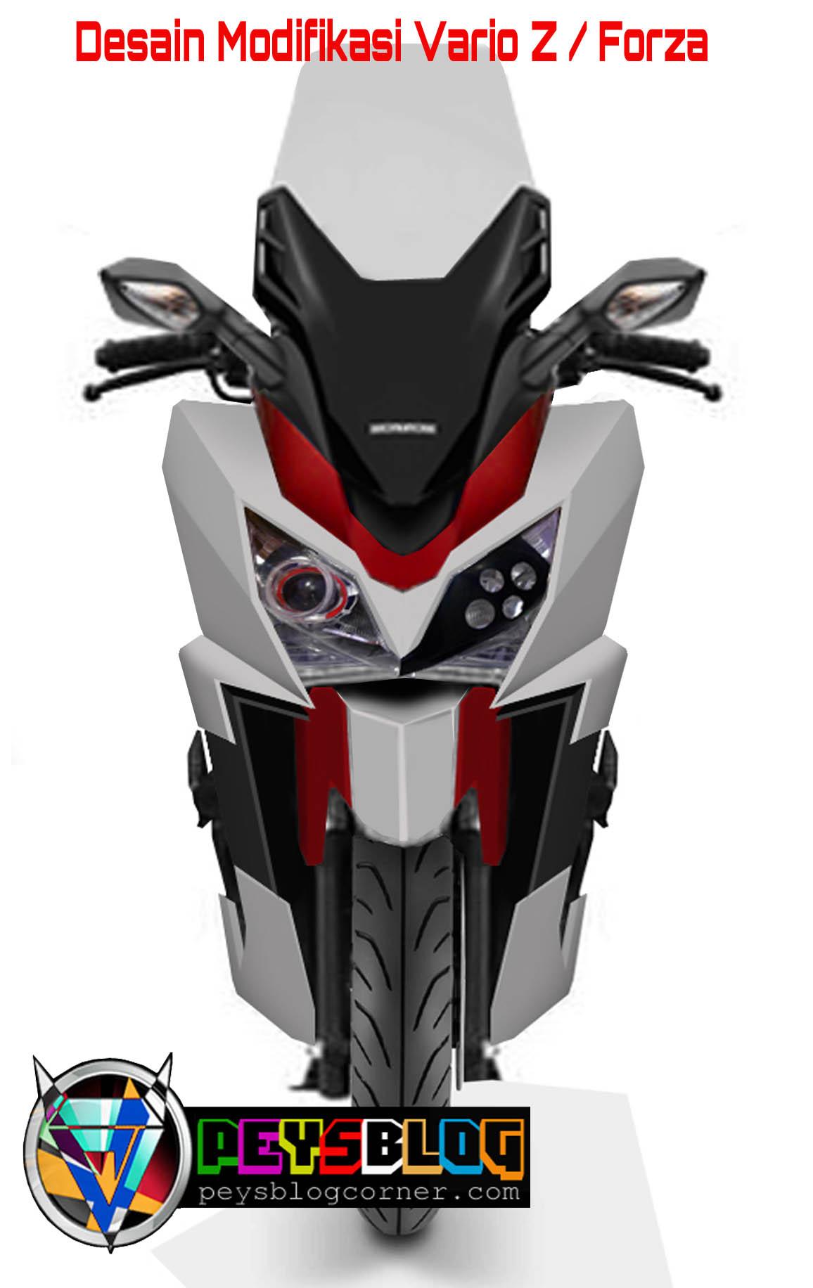 Desain Modifikasi Impian Vario 125 Jadi Honda Forza PEYSBLOG