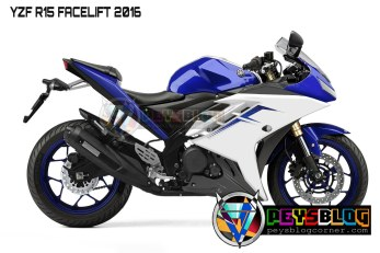 YAMAHA R15 FACELIFT 2016 BLUE
