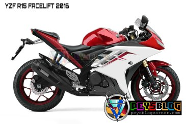 YAMAHA R15 FACELIFT 2016 RED
