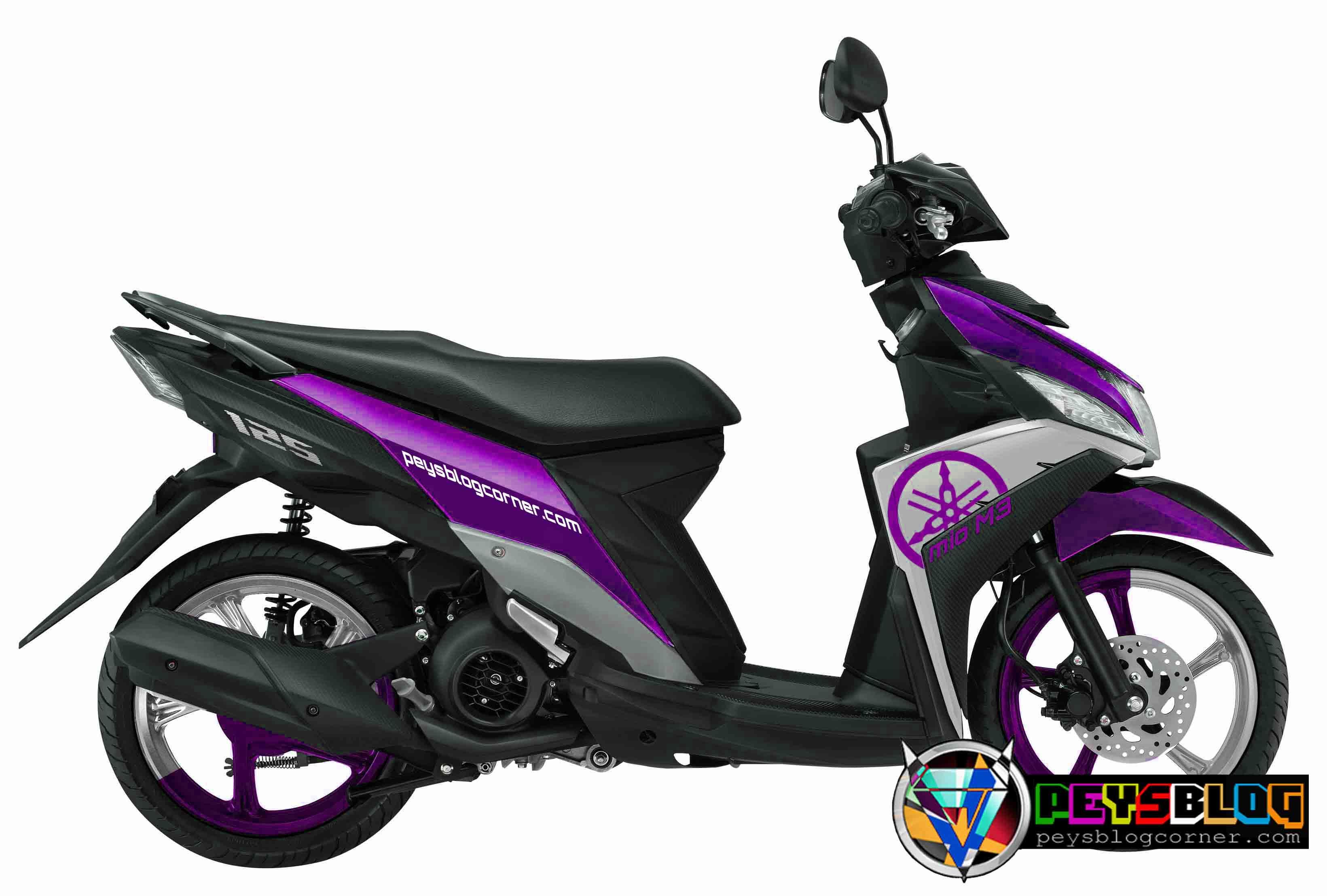 20 Kumpulan Modifikasi Motor Mio J Warna Ungu Terlengkap