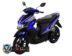 modifikasi cutting sticker gt 125 Biru