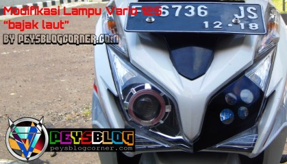 Modifikasi Lampu Vario 125 cutting sticker dan projie
