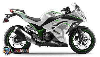 ninja 250 fi putih striping hijau