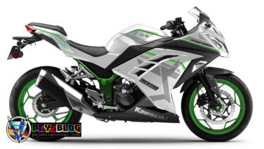 ninja 250 fi putih velg hijau