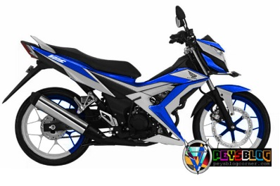modifikasi sonic cutting sticker skotlet biru