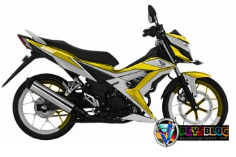 modifikasi sonic cutting sticker skotlet kuning