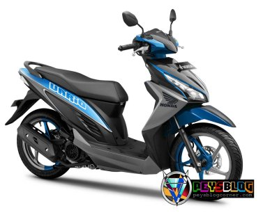 Vario 110 modifikasi warna biru