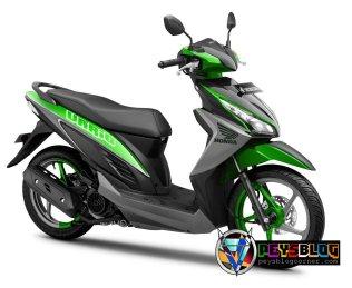 Vario 110 modifikasi warna hijau