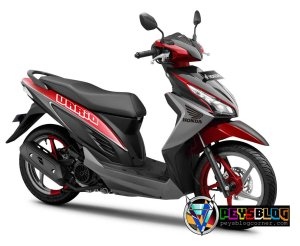 Vario 110 modifikasi warna merah