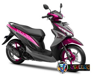 Vario 110 modifikasi warna pink